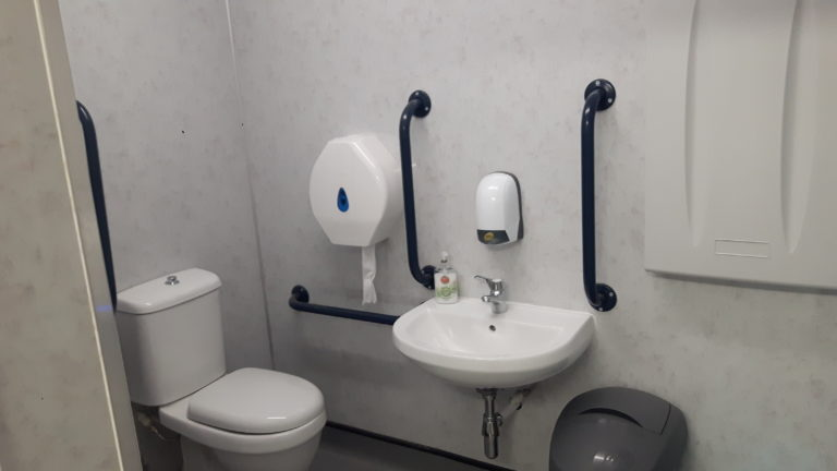 Accessible disabled toilet