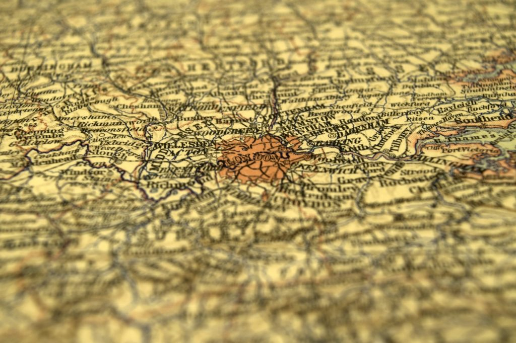 map, depth of field, travel